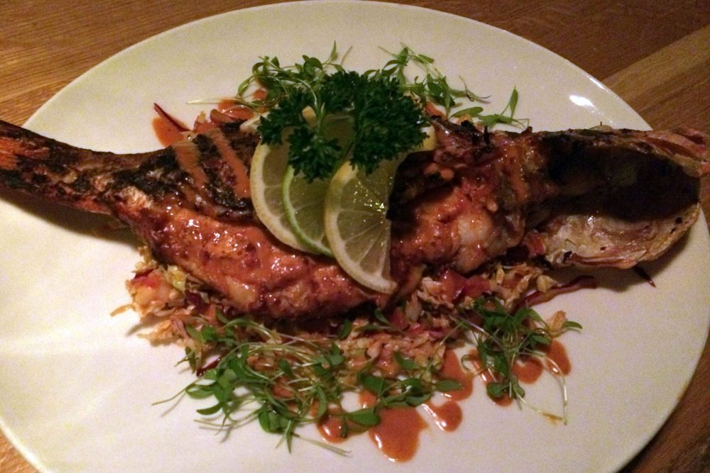 Mercadito Fish Marinated whole red snapper
