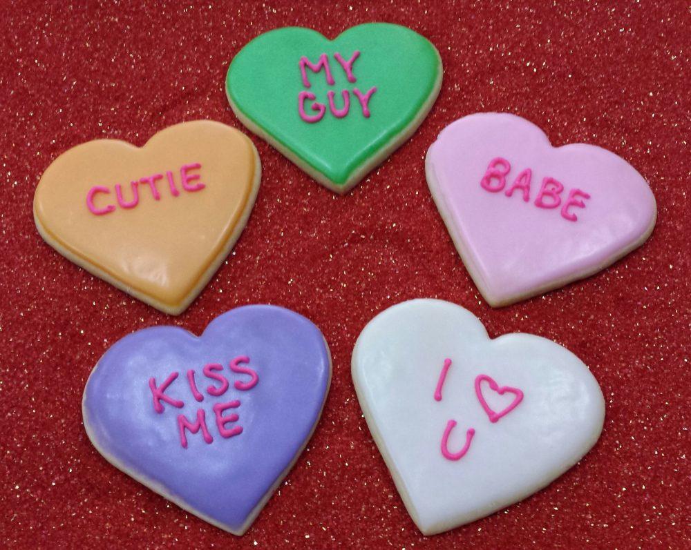 Conversation Heart Cookies - Sensational Bites