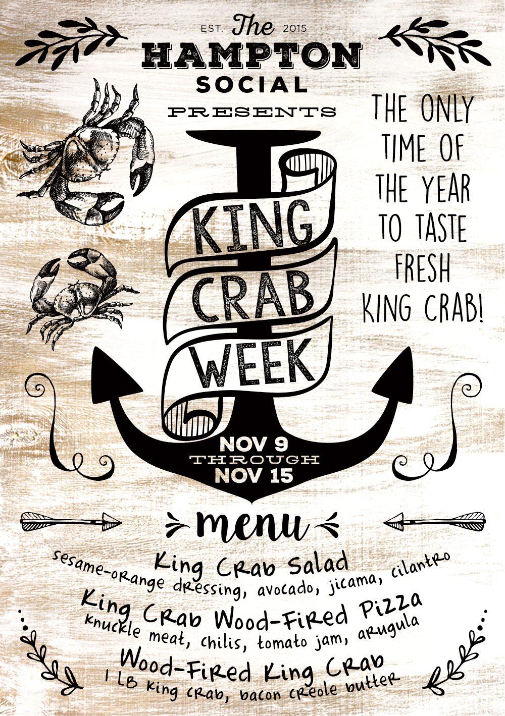 Alaskan King Crab Leg Week at The Hampton Social