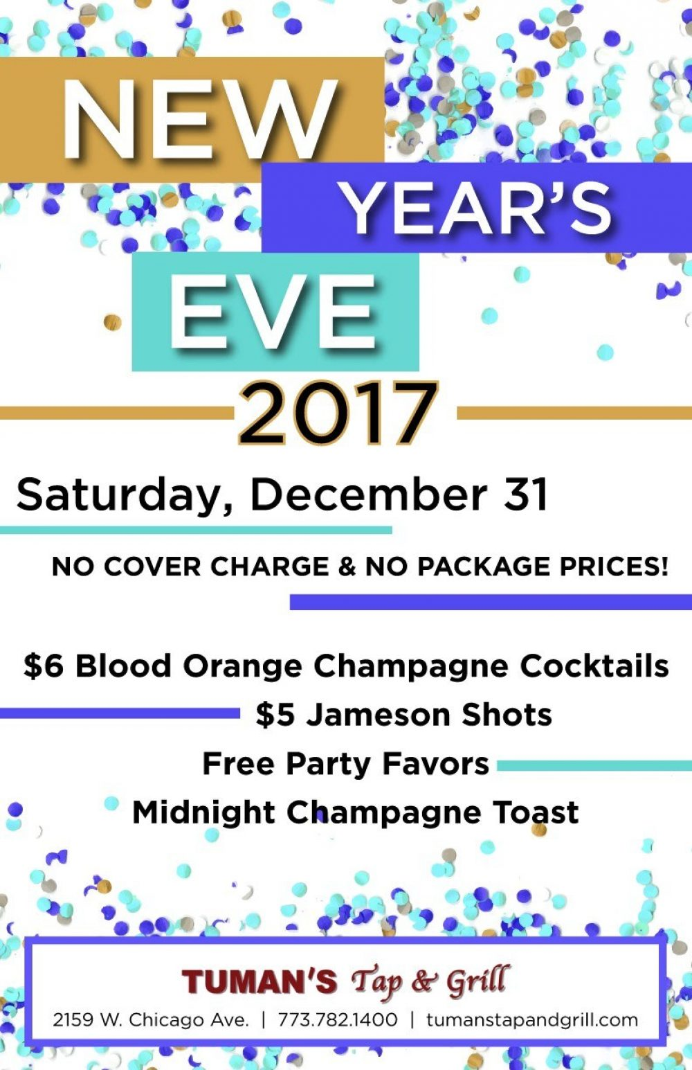 New Year's Eve at Tuman's Tap & Grill