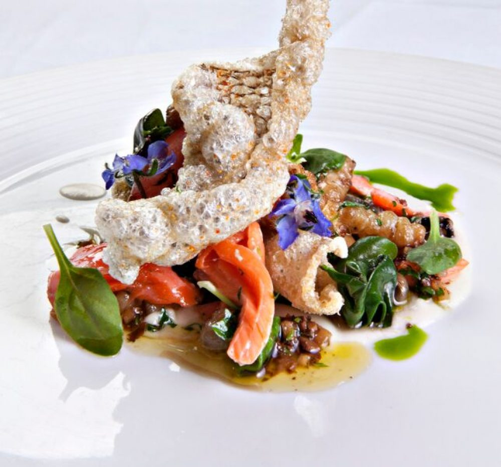 Famous Chicago Chef Charlie Trotter's Salmon Three Ways
