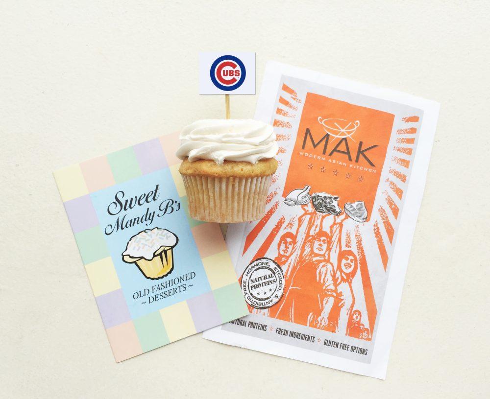 mak, wicker park, cubs, sweet mandy b's, cubs, cupcakes, asian, healthy