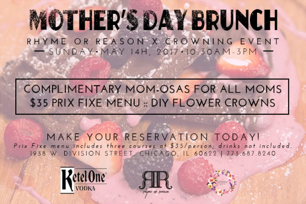 5 2 17 Ror Mothers Day Prix Fixe