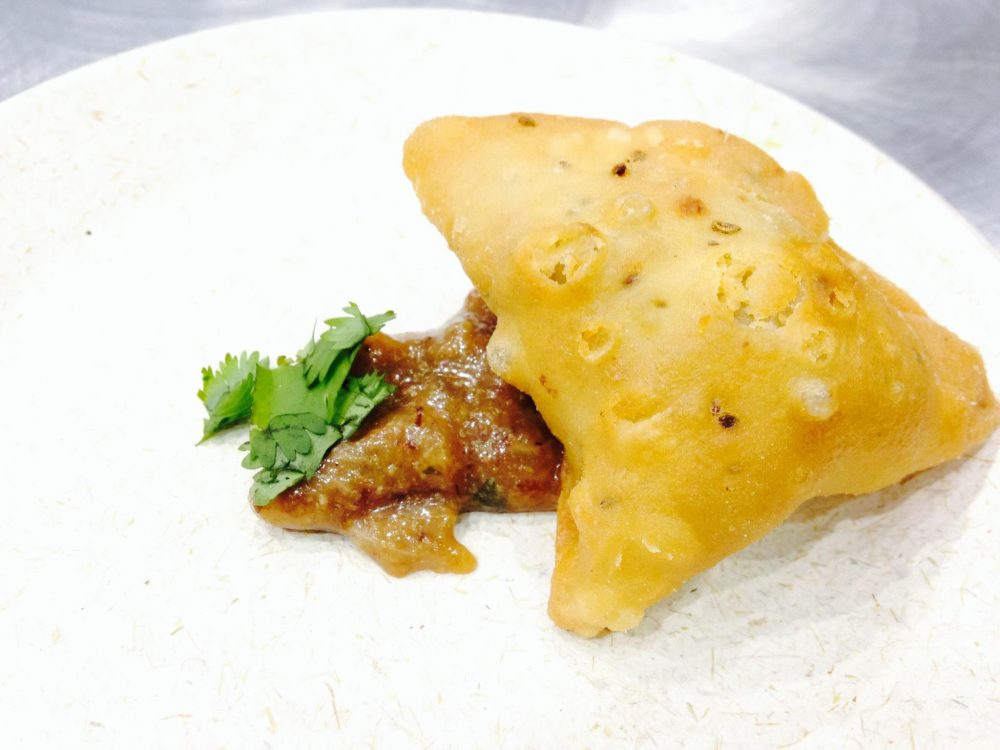 Red Butter's Bacon Samosa