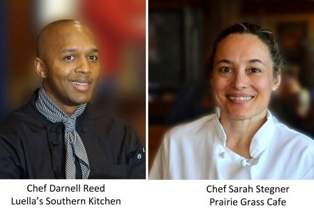 Chefs Sarah Stegner and Darnell Reed team up for a collaboration Zoom dinner Saturday, January 30