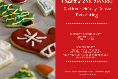 2nd Annual Children's Holiday Cooking Decorating at Passero