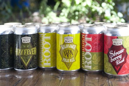 Forbidden Root Brewery Can Launch Events April 6 and April 12