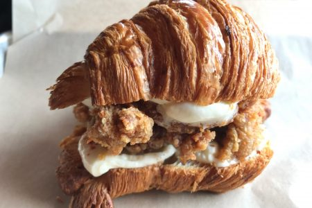 "Honey Butter Fried Chicken Kicks Off This Year's Clucker Collaboration With Floriole And The ""Croissantwich"""