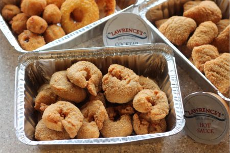 Chance to Win VIP Lolla Tickets at Lawrence's Fish & Shrimp Shrimpalooza