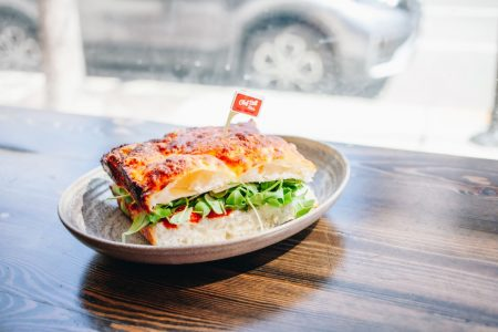 Chef Bill Kim Introduces The Pizza Sandwich at Chef Bill Kim's Pizza & Parm Shop