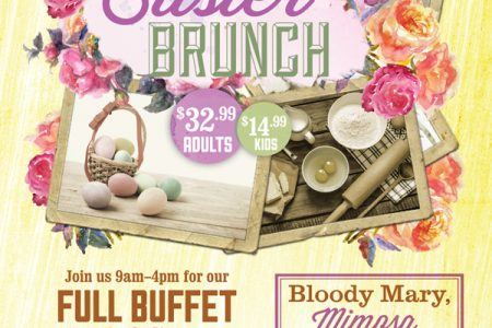"A Hoppin' ""BBQ Brunch Buffet"" on Easter Sunday at Rack House"