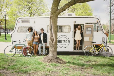 Heritage Bicycles Brings Coffee and Bikes to the Lakefront in a RV