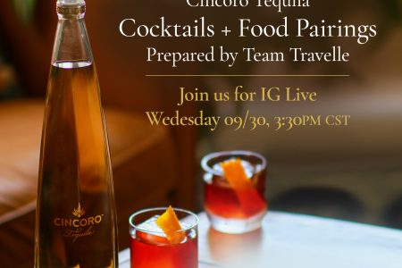 Travelle + Cincoro Tequila: Cocktail + Food Pairings Class