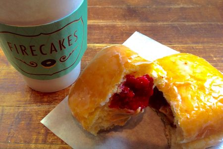 New Peanut Butter and Jelly Donut at Firecakes
