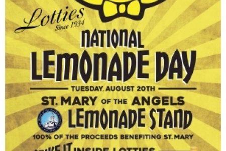 National Lemonade Day at Lottie's, 8/20