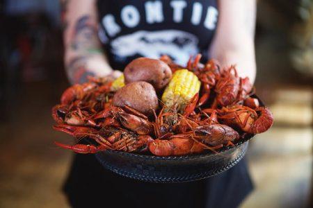 Frontier's Jazzfest Crawfish Boil