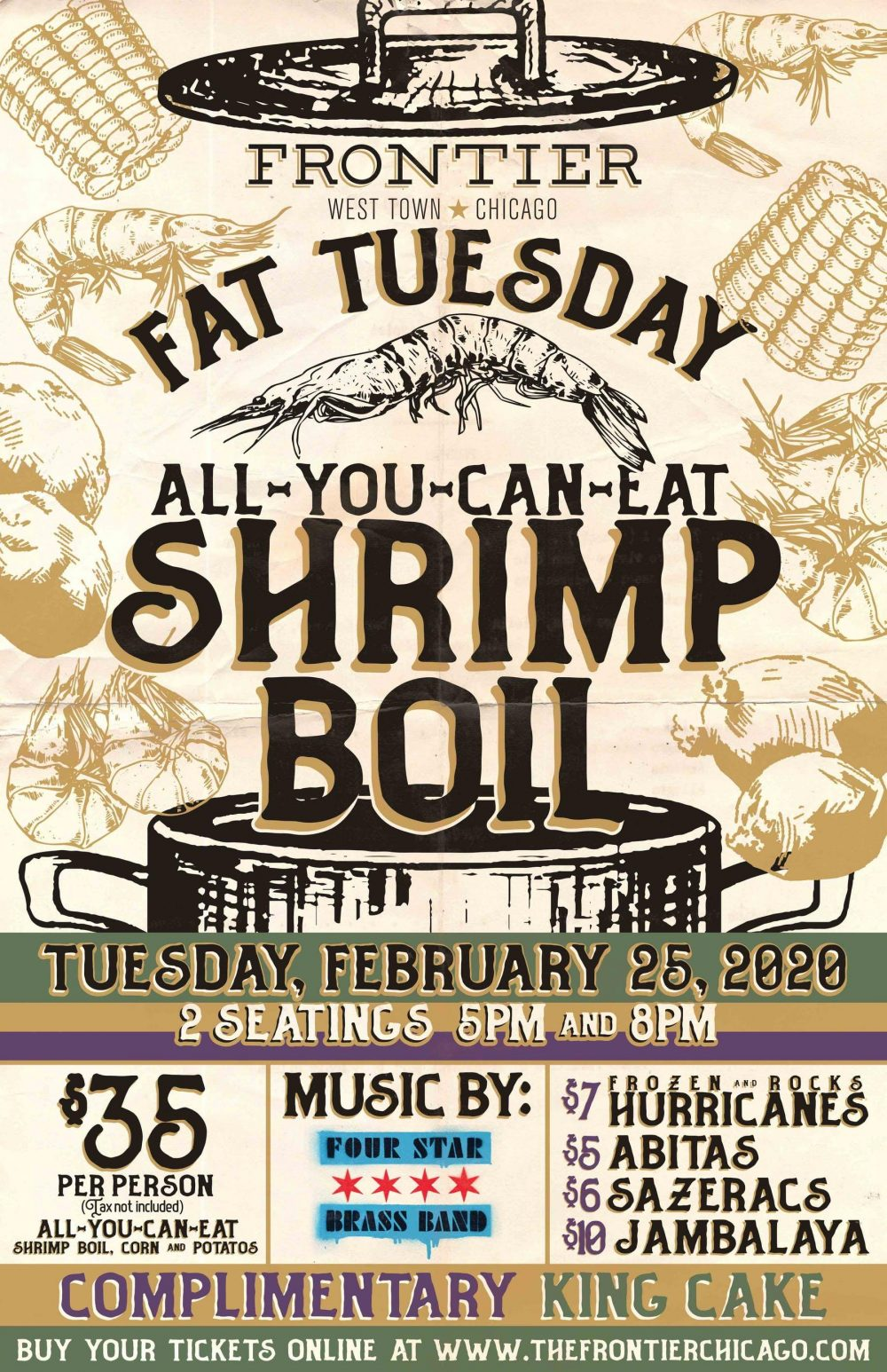 11705 Frontier Fat Tuesday Shrimp Boil 2020