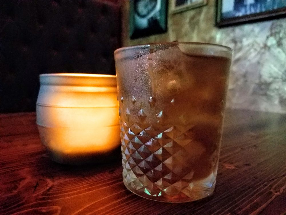 'The Thief' is a twist on the venerable Manhattan. A hint of Sherry and Earl Gray Tea round out this cocktail.