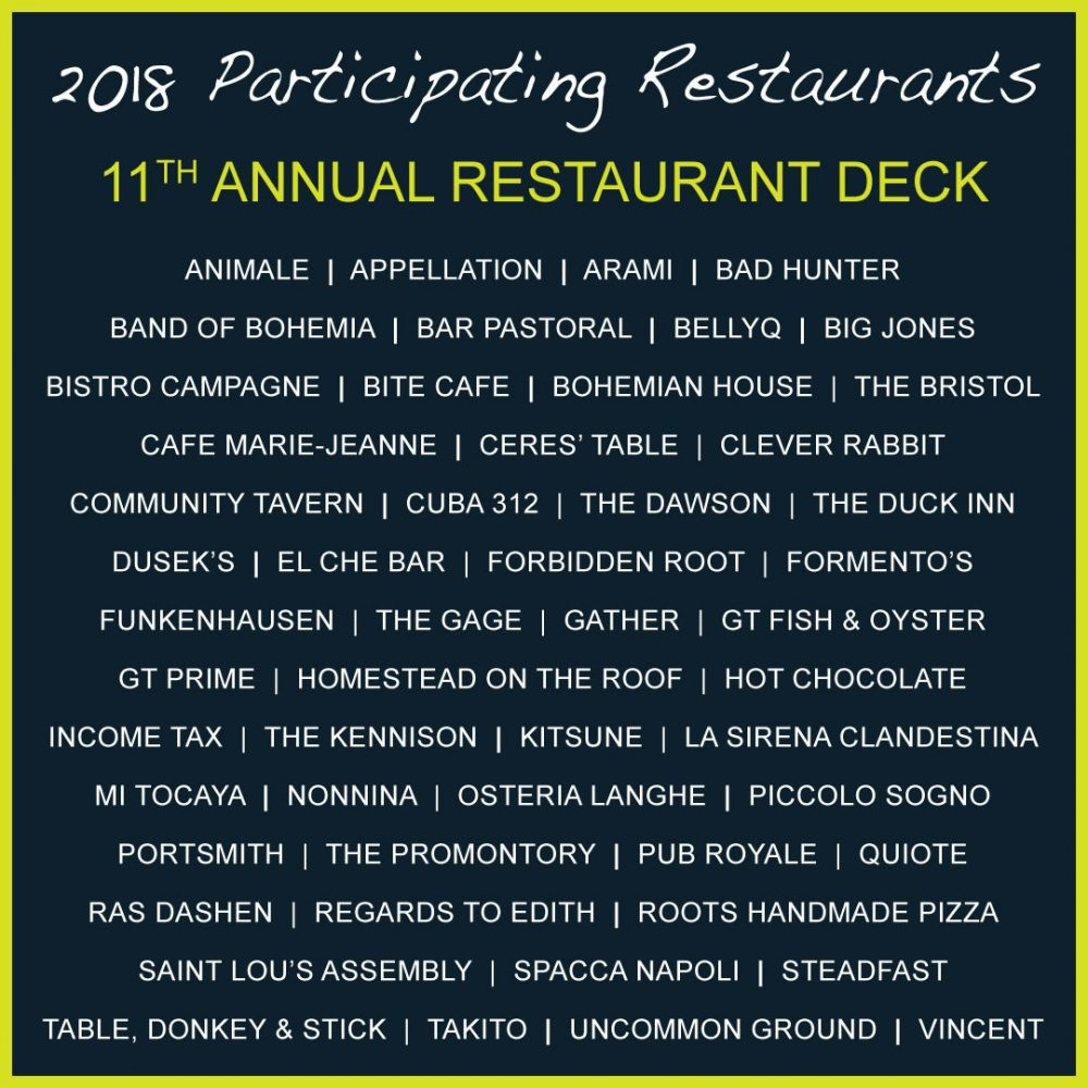 2018 Restaurant Deck Restaurants
