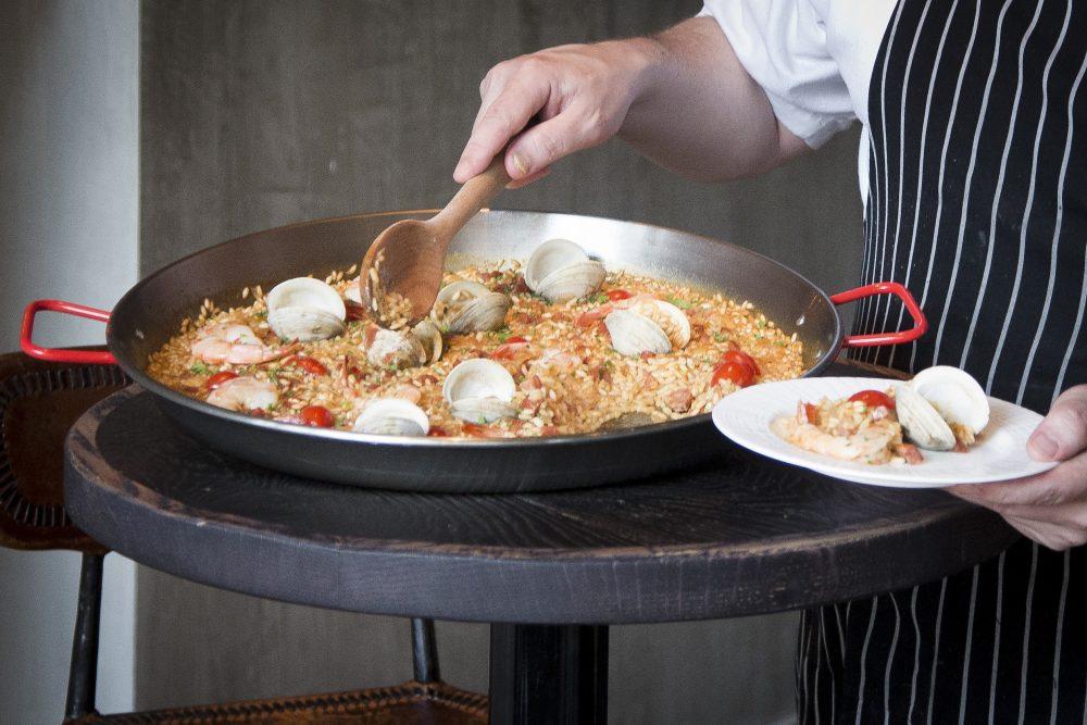 Paella dish at Salero
