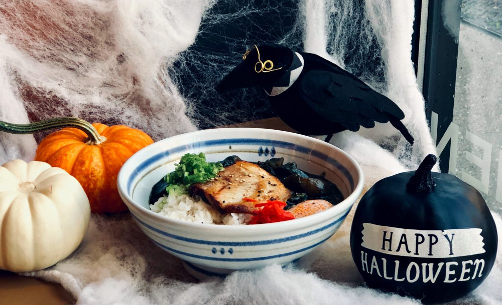 Strings Ramen Black Hallloween Curry