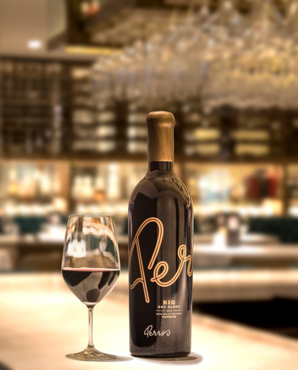 Big Red Blend Wine at Perry's Steakhouse & Grille in Oak Brook