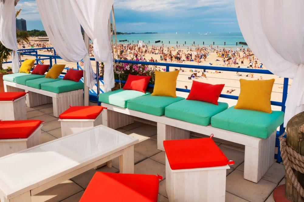 north avenue beach, patio, private event space, corona, beach, chicago summer,