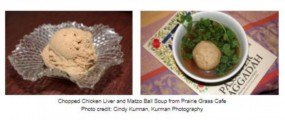 Chopped Liver And Matzo Ball Soup At Prairie Grass Cafe