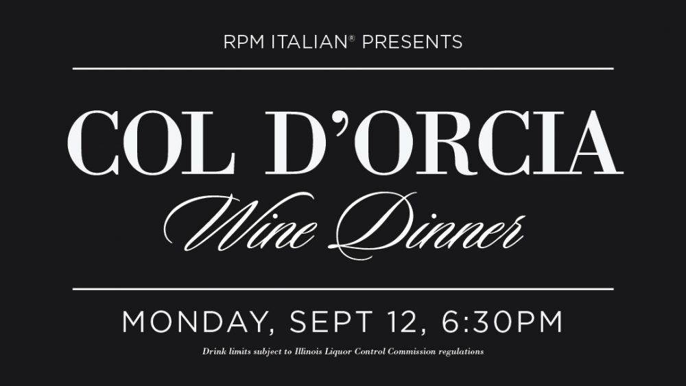 Col d'Orcia Brunello Wine Dinner