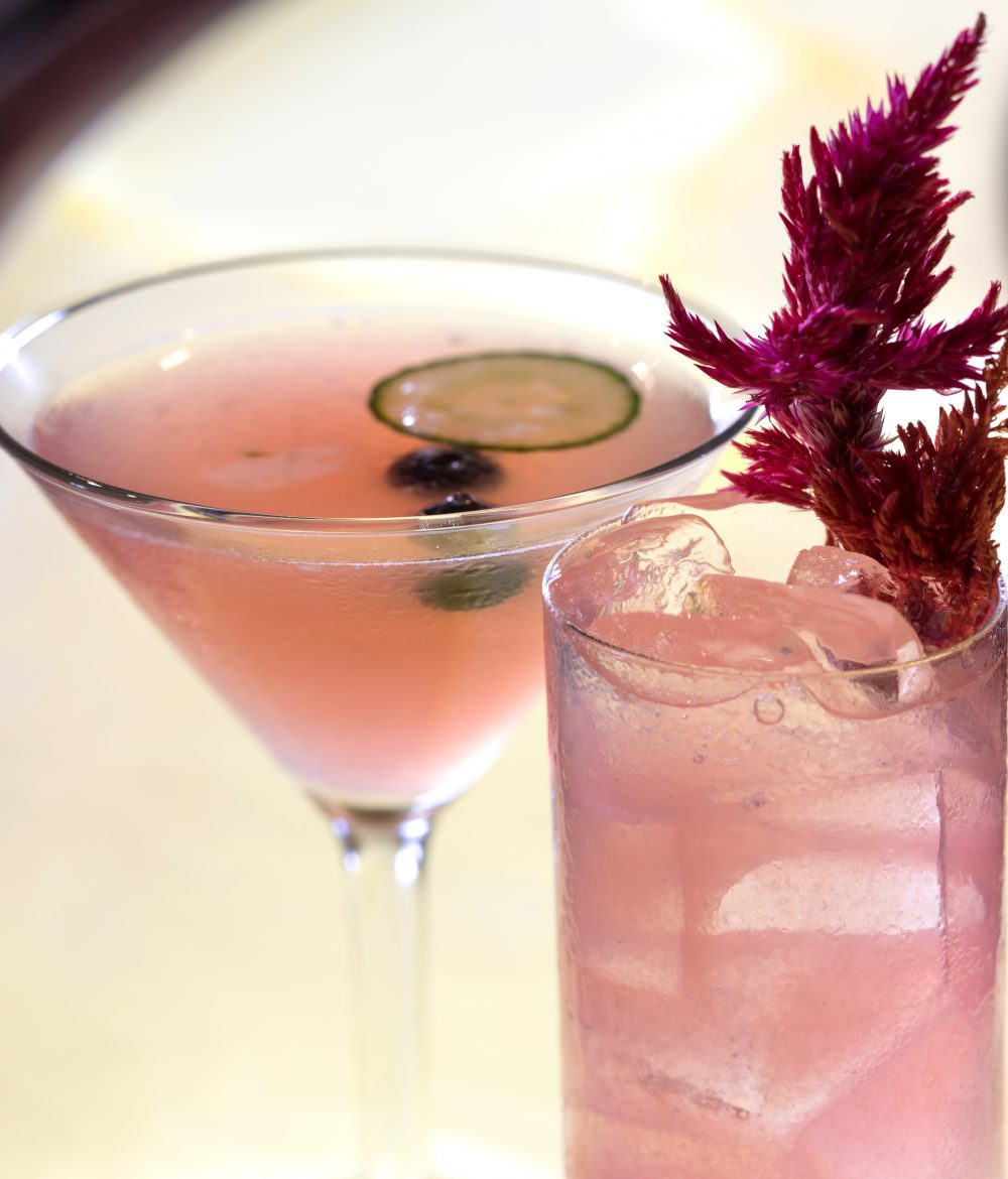 Perry's Cucumber Blueberry and Rosé Collins