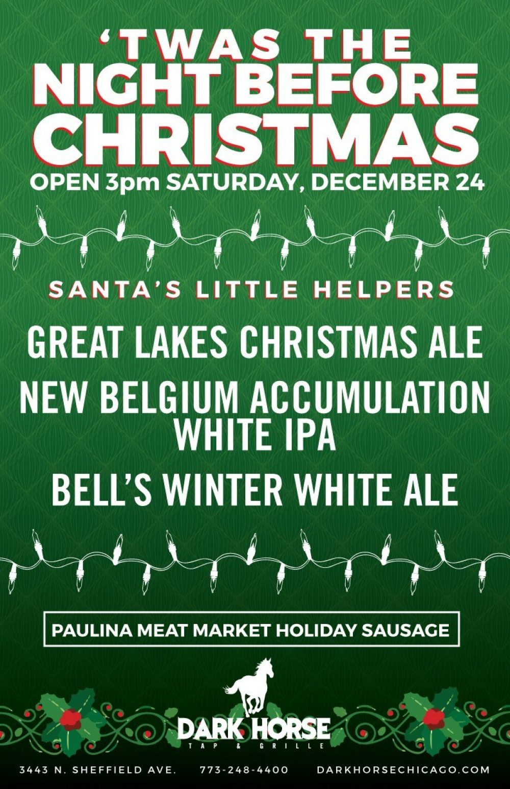 Christmas Eve at Dark Horse Tap & Grille