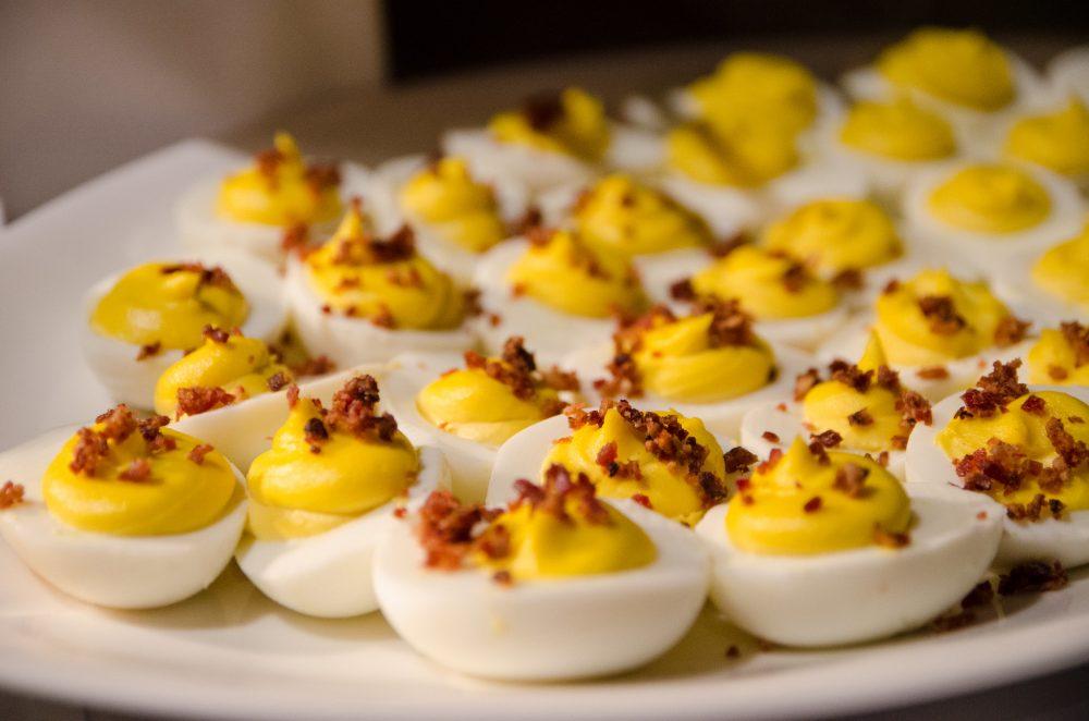 Prairie Grass Cafe Deviled Eggs. Photo credit: Cindy Kurman