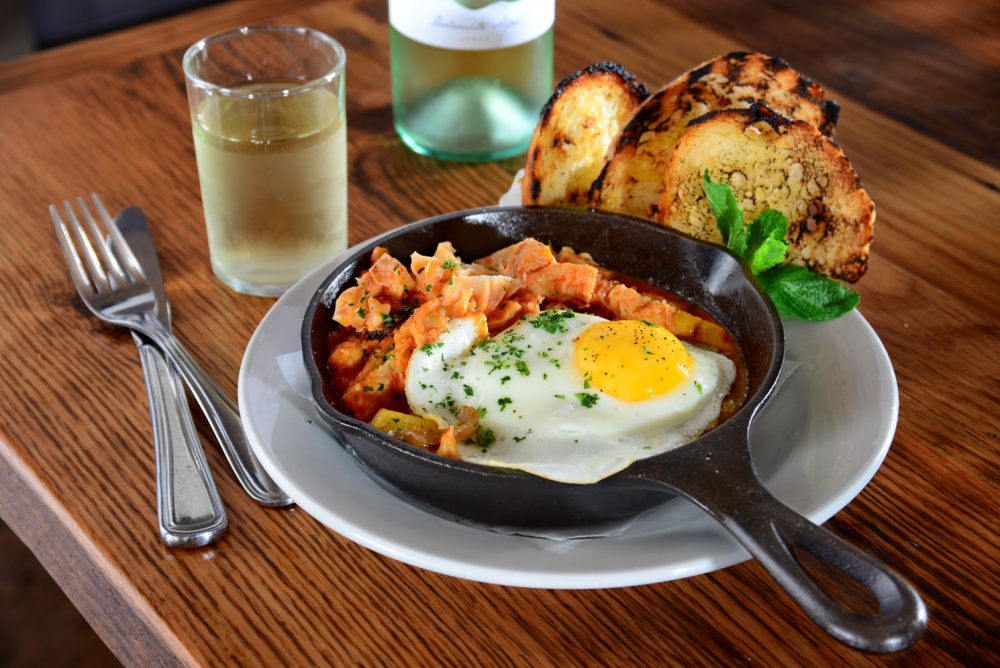 Eggs Skillet And Wine