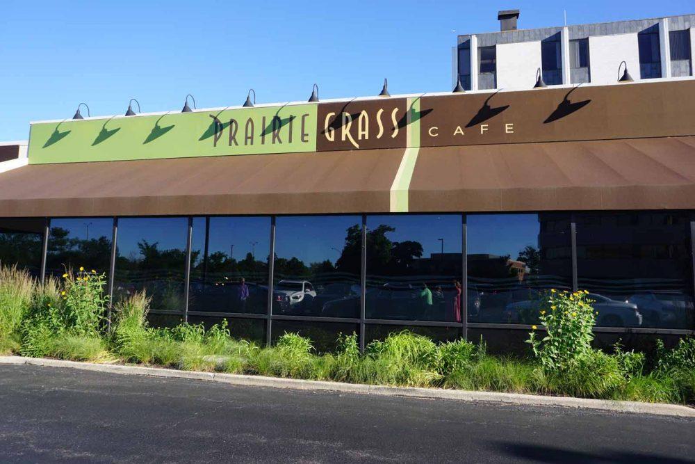 Prairie Grass Cafe Exterior In Spring
