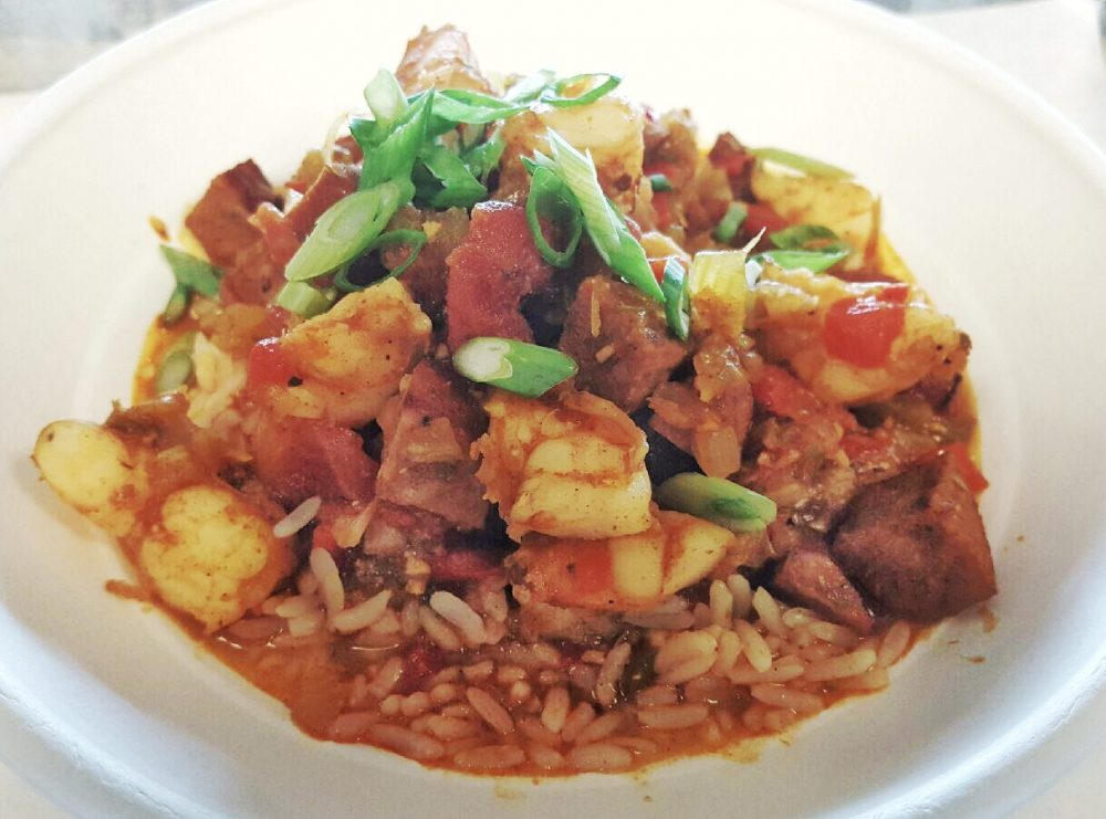 Real Urban Barbecue's Sausage and Shrimp Jambalaya