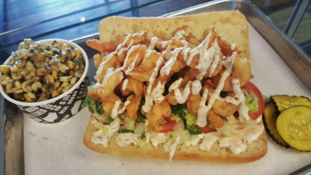 Real Urban Barbecue's Shrimp Po Boy