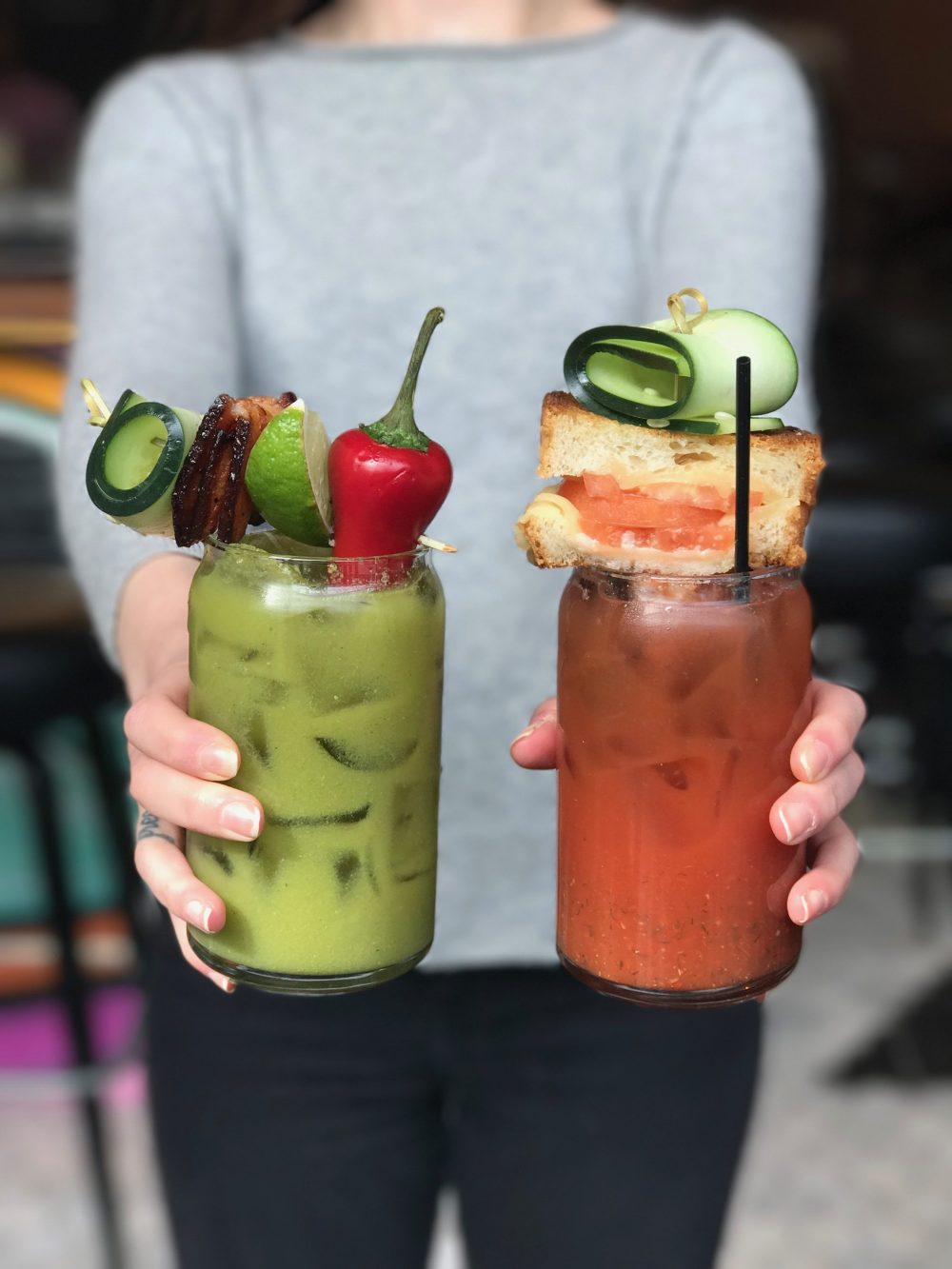 Tomatillo Tom & Bloody Mary; both available for brunch only.
