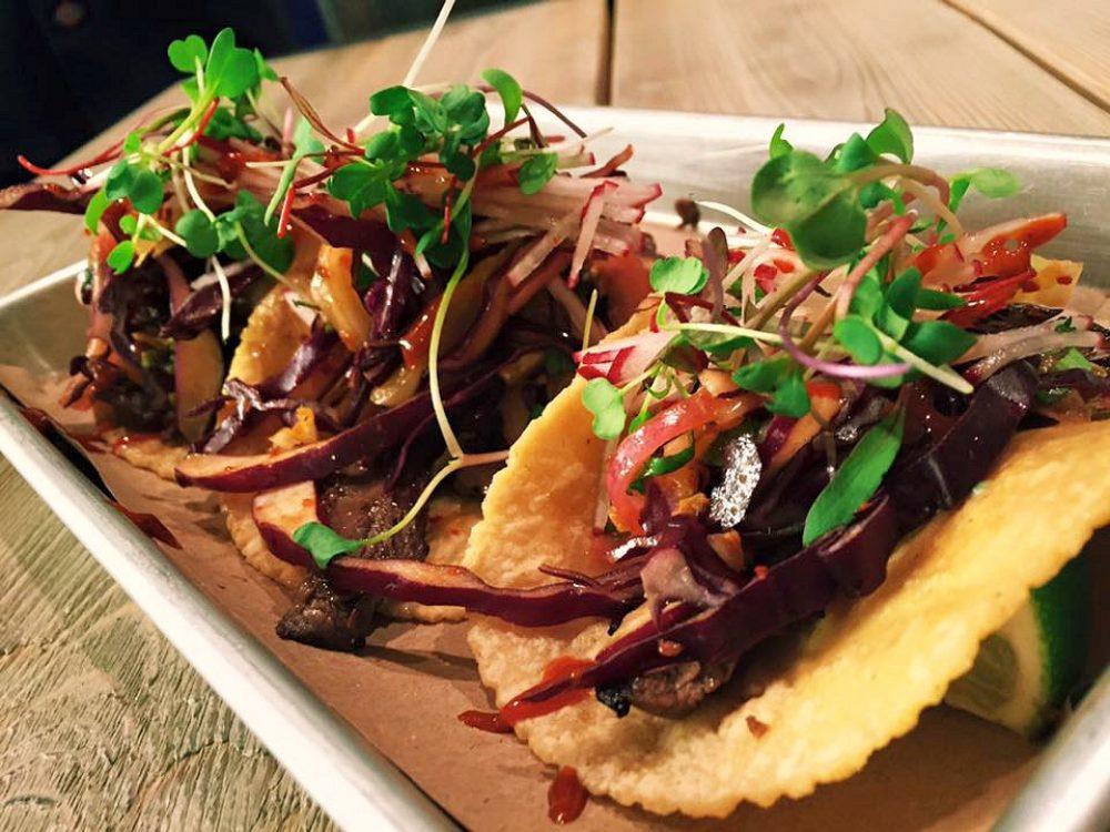 Rojo Gusano Korean BBQ Tacos