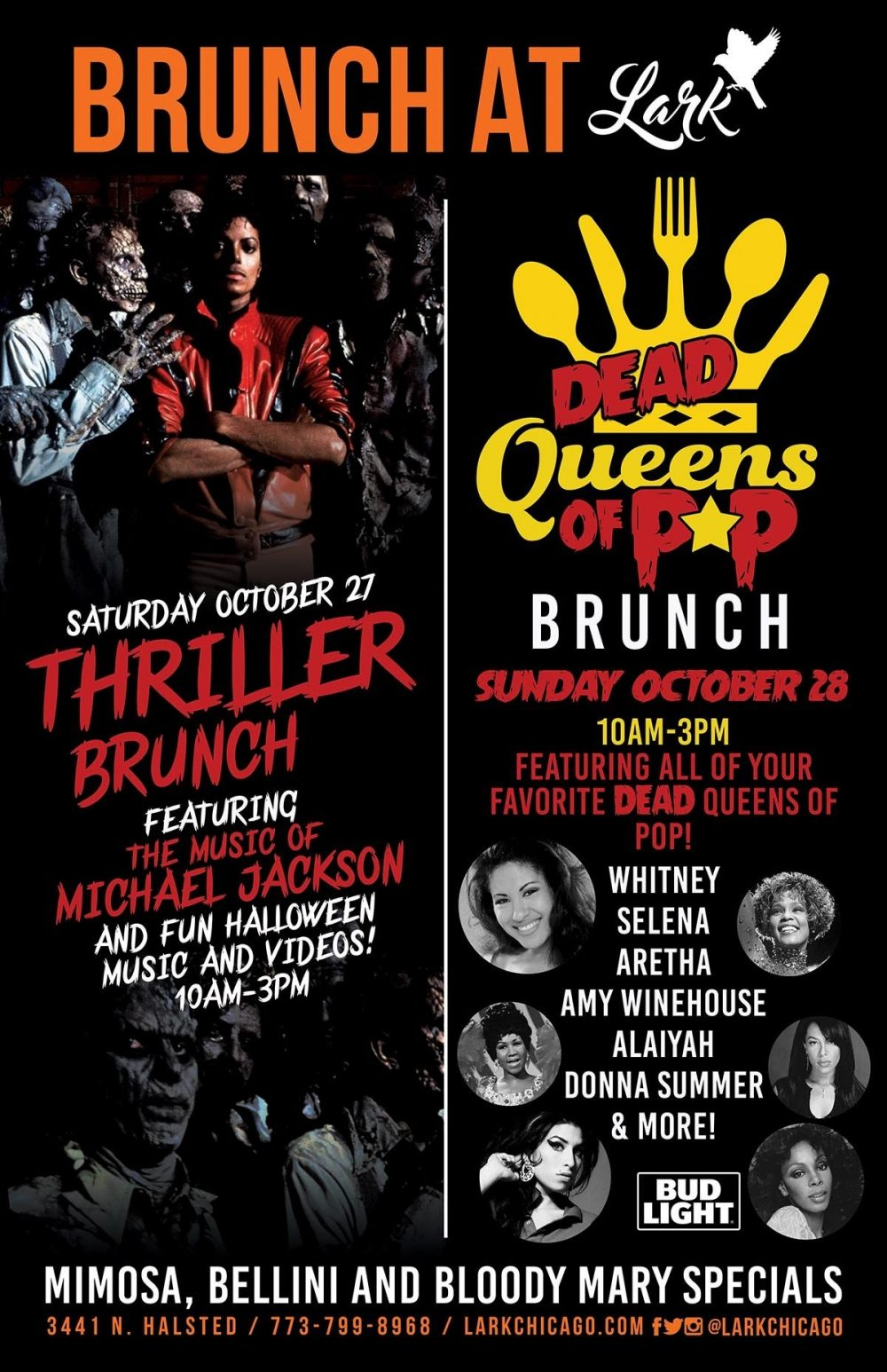 Lark Halloween 2018 Brunch Graphic