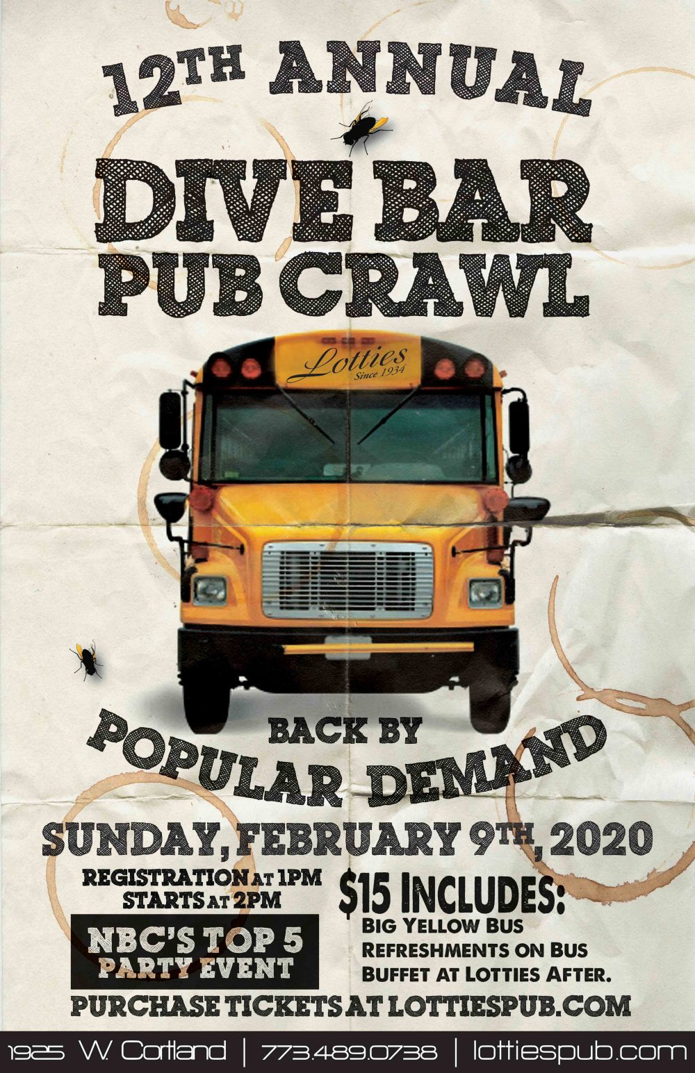 Lotties Dive Bar Pub Crawl2020