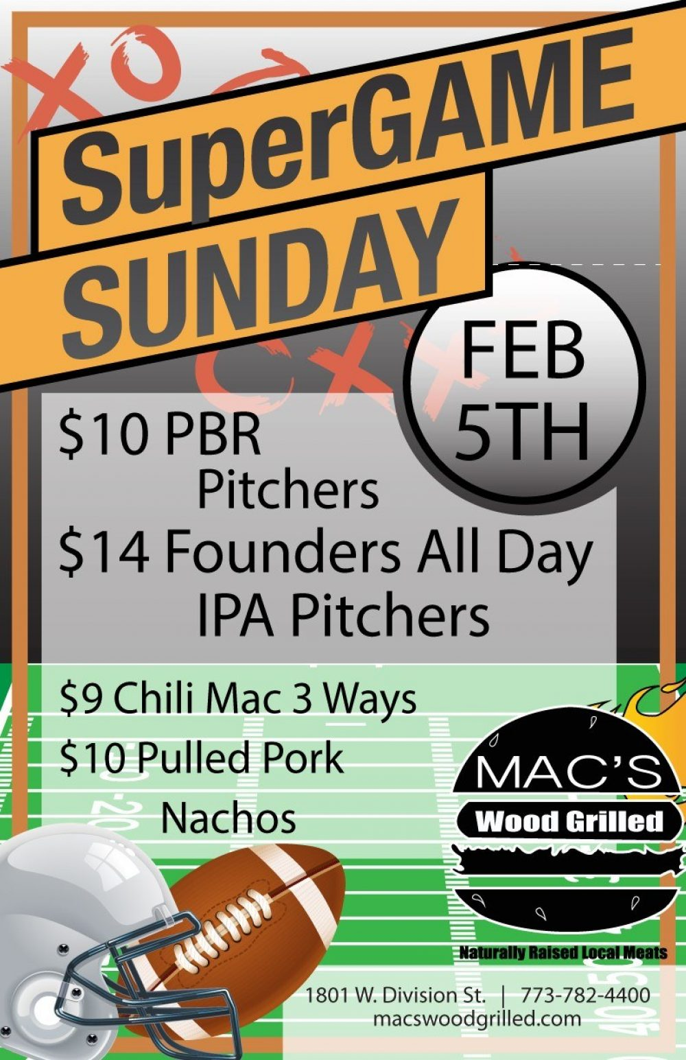 Mac's Wood Grilled Super Game Sunday