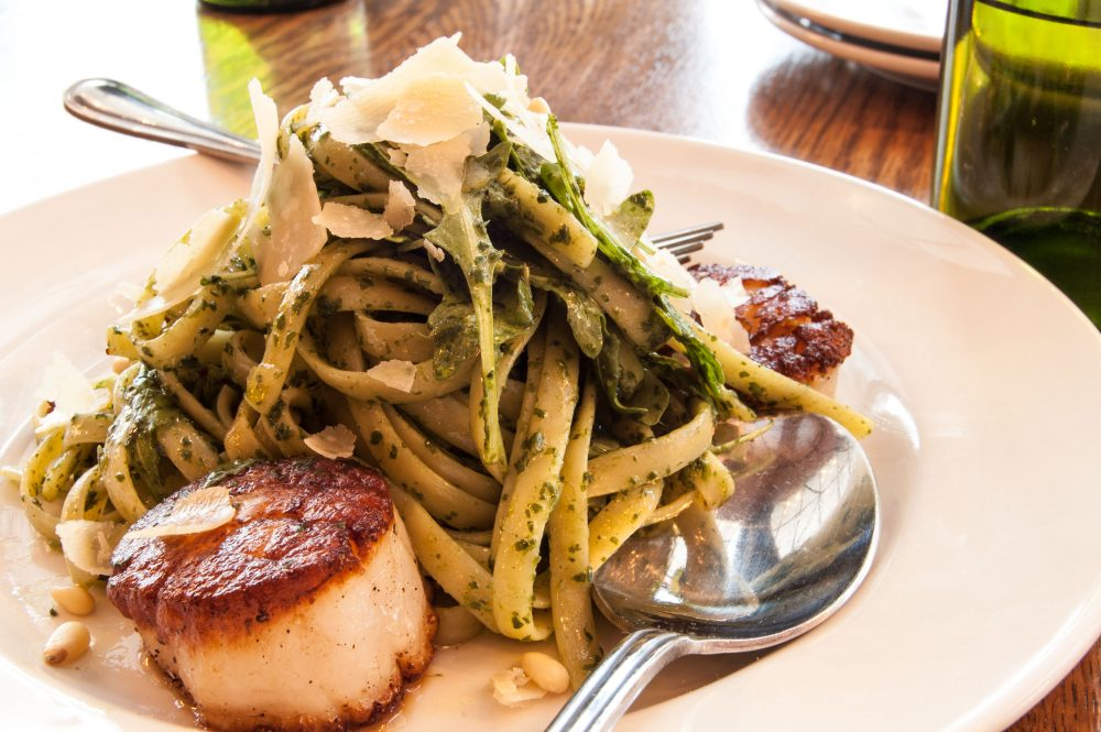 March-Noodle-Month-Fettuccine-arugula-pesto-caramelized-scallops-parmigiano-reggiano-05 1