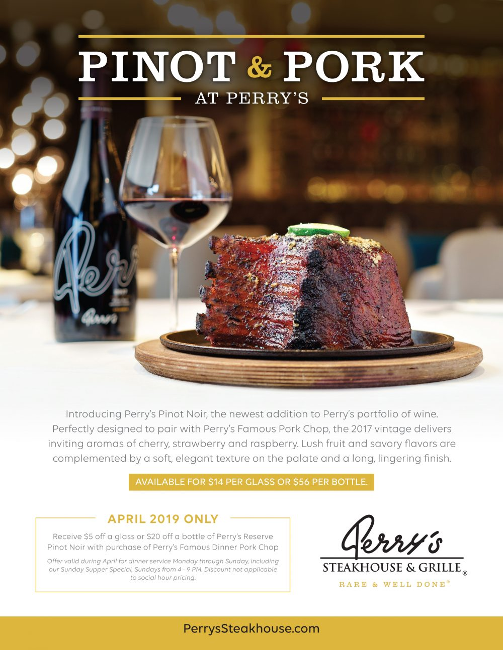 Perry's Special: Pinot and Pork