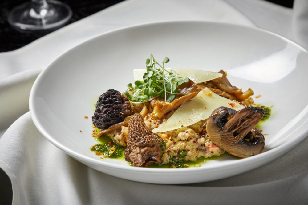 Quinoa Risotto Wild Mushrooms Mangego Cheese Herb Oil 1024X683