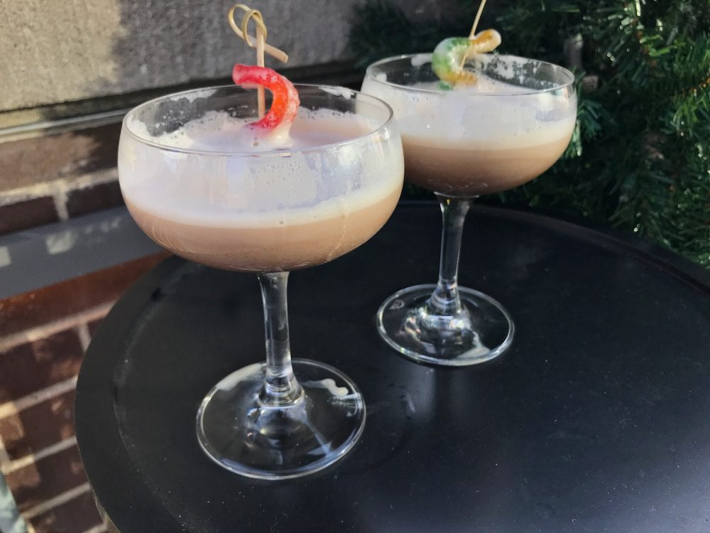 Worms in Dirt Cocktail