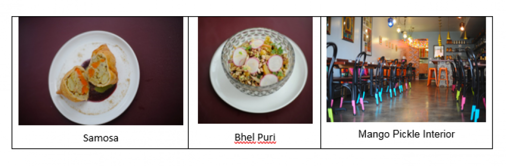 Samosa, Bhel Puri, Mango Pickle Interior