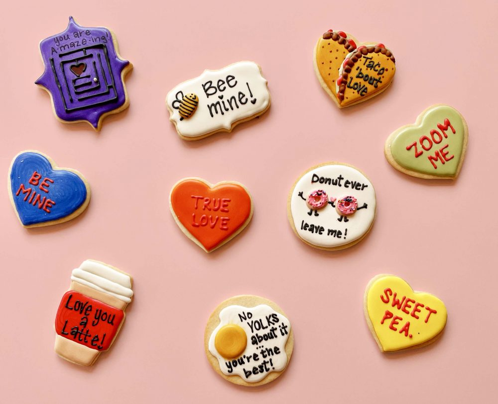 Sugargoat Valentines Day Decorated Shortbreads