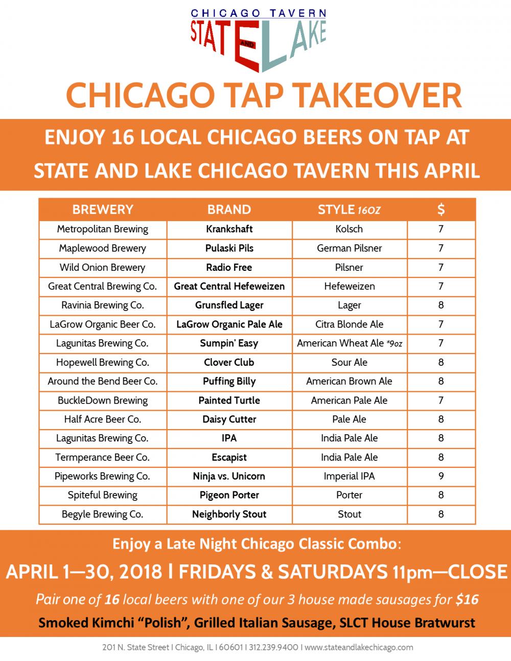 Tap Takeover Slct April 2018