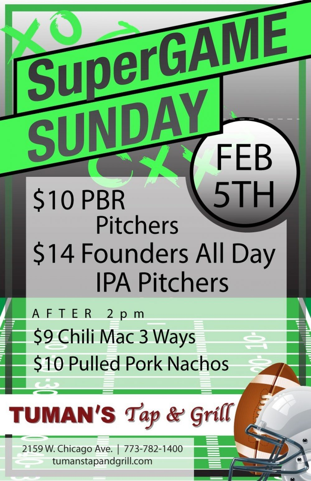 Super Game Sunday at Tuman's Tap & Grill