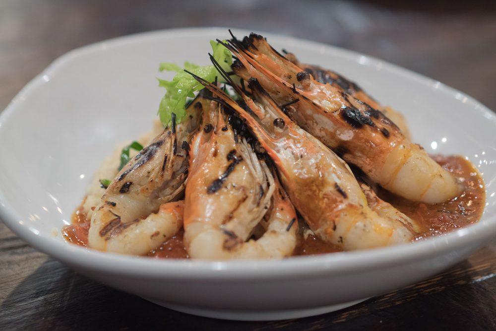 Bourbon Division Brunch 0001 Brunch Grilled Shrimp White Cheddar Grits